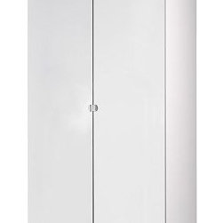 IKEA of Sweden - PAX Wardrobe with 2 doors - Wardrobe with 2 doors, white, Vikedal mirror glass