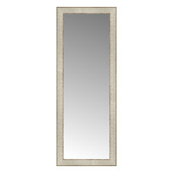 """Posters 2 Prints, LLC - 14"""" x 36"""" Libretto Antique Silver Custom Framed Mirror - 14"""" x 36"""" Custom Framed Mirror made by Posters 2 Prints. Standard glass with unrivaled selection of crafted mirror frames.  Protected with category II safety backing to keep glass fragments together should the mirror be accidentally broken.  Safe arrival guaranteed.  Made in the United States of America"""