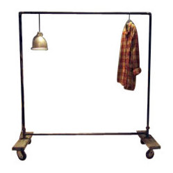 Small Plain Jane Industrial Pipe Garment Rack