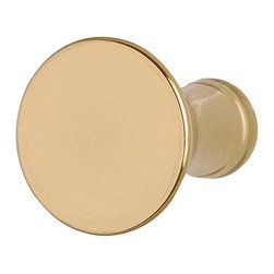 Renovators Supply - Cabinet Knobs Classic Brass Cabinet Knob 1'' Dia - Classic Brass Cabinet Hardware. Easy to grasp, this knob is protected with our tarnish free RSF finish. Measures 1  in. diameter, 1 1/8 projection, 1/2 inch diameter back.