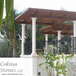 Cokina Stone Columns for Gazebo -