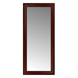 """Posters 2 Prints, LLC - 17"""" x 37"""" Ansley Mahogany Custom Framed Mirror - 17"""" x 37"""" Custom Framed Mirror made by Posters 2 Prints. Standard glass with unrivaled selection of crafted mirror frames.  Protected with category II safety backing to keep glass fragments together should the mirror be accidentally broken.  Safe arrival guaranteed.  Made in the United States of America"""