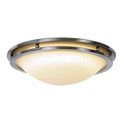Premier - One Light 17 inch Ceiling Fixture - Brushed Nickel - AF Lighting 617613 Contemporary Fluorescent Lighting Collection Flush Mount, Brushed Nickel, 17-5/8in. W by 4-1/2in. H.