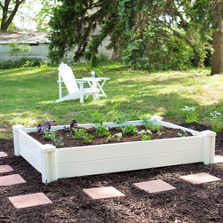 New England Arbors - New England Arbors 4 x 6 ft. Garden Bed Multicolor - VA68231 - Shop for Accessories and Parts from Hayneedle.com! The New England Arbors 4 x 6 ft. Garden Bed gives you decades of premium gardening space. This bright attractive raised bed is constructed of heavy-duty white vinyl. Guaranteed not to crack warp or rot this garden bed comes with a 20-year manufacturer's warranty. Place one or more in a variety of settings and fill with soil for an instant garden bed.