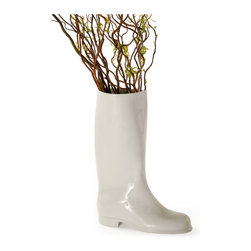 'Waterproof' Porcelain Vase - I'm just going to say it: This vase is totally weird, but it's awesome at the same time. Shaped like Wellie boots and available in white or a blue onion-esque pattern, your gardening friend will absolutely love it or hate it – there is no in-between on this one. Hopefully you know your giftee well enough to know which was it's going to go!
