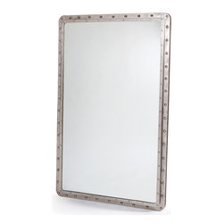 Maritime Mirror - Get this 5 feet tall Vintage Maritime Mirror to accentuate the wall decor of your indoors spaces. The 36.25 inch wide Vintage Maritime mirror is an elegant choice for your mirror needs home. The steel frame of the Vintage Maritime Mirror flaunts polished nickel finish and sleek width. You may use it inside your bathroom to give it a vintage feel or simply put in on your dresser table for a different indoor decor finish.