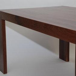 "Parsons Dining Table-Walnut - Dimensions: 38"" x 70"" x 30"""