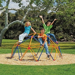 Easy Outdoor Space Dome - The Easy Outdoor Space Dome is perfect for your backyard for hours of play and enjoyment. This space dome is rust-resistant and UV-resistant to prevent color fading. The durable steel construction allows for a maximum of 2,000 lbs. total weight capacity and is finished in durable powder coat paint. For use by children from ages 3 to 10.