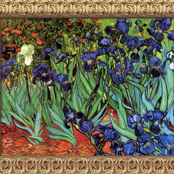 Amanti Art - Irises In The Garden  by Vincent van Gogh - Seeing is believing: Thanks to the newest in printing technology, this reproduction looks very like the original. Archival-quality inks on stretched cotton canvas recreate the vibrant colors that Van Gogh intended for the garden painting that you know and love.