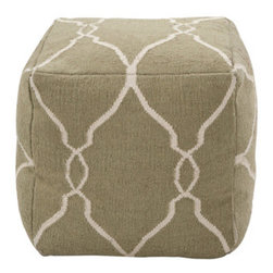 Pouf 15 - I'm sure you've seen lots of poufs online or in recent design magazines. I just cannot get enough of them. They are great for extra seating or as ottomans. A pair of these would look great in front of a fireplace or flanking a table in a living room. Items like this are a great way to add layers to a space.