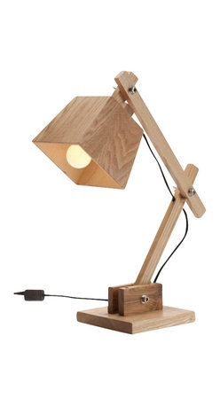 ParrotUncle - Contemporary Wooden Bedside Table Reading Lamps for Bedroom - The old-school task lamp you recognize — reinvented to charmingly fool the eye. Perfect for bedroom and living room.