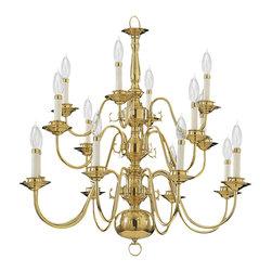 Quorum International - Quorum International 6171-16-2 Polished Brass 16 Light Chandelier - Quorum International 6171-16-2 Brass 16 Light Chandelier