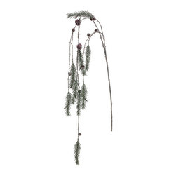 Silk Plants Direct - Silk Plants Direct Glittered Pine Hanging (Pack of 12) - Silk Plants Direct specializes in manufacturing, design and supply of the most life-like, premium quality artificial plants, trees, flowers, arrangements, topiaries and containers for home, office and commercial use. Our Glittered Pine Hanging includes the following: