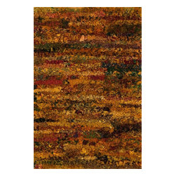 "Loloi Rugs - Loloi Rugs Eliza Shag Apricot Modern / Contemporary Hand Woven Rug X-933200PA10 - Get ready for a small rug that makes a big impact. Available in 2'3"" x 3'9"" and 3' x 5' scatter sizes, Eliza Shag is perfect for refreshing your kitchen, bathroom, or bedside with a pop of color. In fact, Eliza Shag doesn't just come in color, it's practically made of it. That's because most of the repurposed polyester fabric is hand dipped into rich dye lots and then hand woven together in India. The result is gorgeous colors - serene ocean blue, warm paprika, and elegant ivory - and a fun ruffled texture that's going to uplift the entire mood of your room."