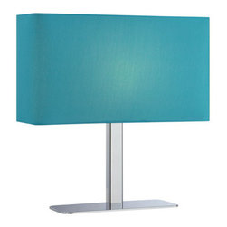 """Lite Source - Lite Source LS-21797 15"""" Single Light Up / Down Lighting Rectangular Table Lamp - Contemporary / Modern 15"""" Single Light Up / Down Lighting Rectangular Table Lamp with Rectangular Fabric Shade from the Levon CollectionThe Levon table lamp takes contemporary to the next level. A variety of colorful shades glow beautifully, radiating warm light throughout your room.Features:"""
