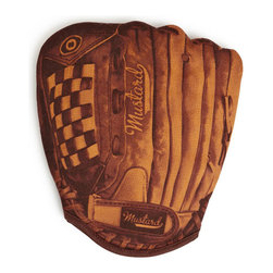 Mustard - Baseball BBQ Oven Mitt - Hit and home run in the kitchen with the Baseball BBQ Oven Mitt. The perfect gift for any Baseball Fan who likes to cook, the Baseball Oven Mitt will leave you feeling like you belong in the Major Leagues. However, we don't recommend using it to catch flying kitchen utensils!