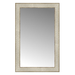 """Posters 2 Prints, LLC - 15"""" x 23"""" Libretto Antique Silver Custom Framed Mirror - 15"""" x 23"""" Custom Framed Mirror made by Posters 2 Prints. Standard glass with unrivaled selection of crafted mirror frames.  Protected with category II safety backing to keep glass fragments together should the mirror be accidentally broken.  Safe arrival guaranteed.  Made in the United States of America"""