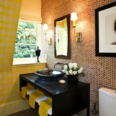 Eclectic Powder Room by Kohler