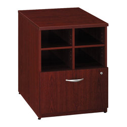 "BBF - Bush Series C 24""W Storage Unit in Mahogany Finish - Bush - Storage Cabinets - WC36704 - From private offices to workstations Series C configures in dozens of ways giving you the flexibility to design your workspace in the way that best suits your working style."