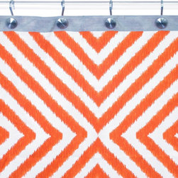 Jonathan Adler Arcade Orange/Gray Shower Curtain - I'm tempted to add this fabulous shower curtain to every bathroom in my house. That's how much I adore it!