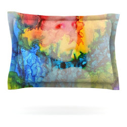 "Kess InHouse - Claire Day ""Clairefied"" Rainbow Paint Pillow Sham (Cotton, 40"" x 20"") - Pairing your already chic duvet cover with playful pillow shams is the perfect way to tie your bedroom together. There are endless possibilities to feed your artistic palette with these imaginative pillow shams. It will looks so elegant you won't want ruin the masterpiece you have created when you go to bed. Not only are these pillow shams nice to look at they are also made from a high quality cotton blend. They are so soft that they will elevate your sleep up to level that is beyond Cloud 9. We always print our goods with the highest quality printing process in order to maintain the integrity of the art that you are adeptly displaying. This means that you won't have to worry about your art fading or your sham loosing it's freshness."