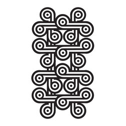 """WallPops - Charlie Kit Wall Decal - It's black and white or nothing at all. This swirling trompe-l'oueil design is punchy perfection, swanky and mod art for your walls.  This kit comes on two 17.25"""" x 39"""" sheets and as always WallPops are repositionable and totally removable."""