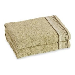Revere Mills Int'l Group Inc - Revere Mills Bathsol Dashes Bath Towels in Green (Pack of 2) - These quality towels are a convenient and versatile addition to any bathroom. They are soft, absorbent and feature a lovey dashes design against a green jacquard-finished background.
