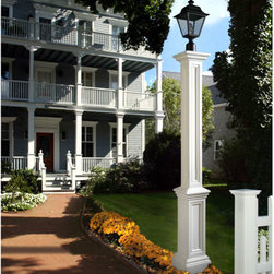 Signature Lamp Post - Decorative Post Sleeve Only - White - The Signature Lamp Post has a great classic design, ideal for any style home. Available as a decorative sleeve to use with an existing pole or as a complete kit with an aluminum fitter pole.