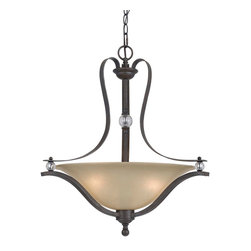 CAL Lighting - Cal Lighting FX-3530/1P 60W X 3 Riverton Metal Pendant Fixture - CAL Lighting FX-3530/1P 60W x 3 Riverton metal pendant fixture