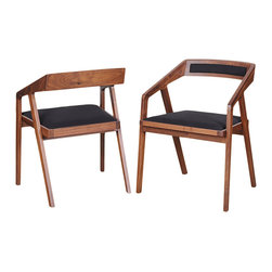 "#N/A - Padma Arm Chair Black - Padma Arm Chair Black. Seat Height: 18.5"""