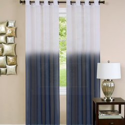 Achim - Achim Essence Curtain Panel - ESPN63BL12 - Shop for Curtains and Drapes from Hayneedle.com! The Achim Essence Curtain Panel shows off a beautiful ombre effect that takes the shade of your choice and gradually fades it along the length of the fabric until it becomes a pure white near the panel's sturdy grommets. This semi-sheer curtain is available in a variety of size options to fit your window and its faux silk material is easy to clean via dusting or light vacuuming.About Achim Importing Established in 1962 by its founder and current president Achim's home furnishing lines include many ready-made products specializing in decorative styles for the window and floor. Priding themselves on offering outstanding value Achim Importing puts the highest quality standards on all of their products. With a wide range of clients including major mass merchants home centers catalogs internet building suppliers and more Achim stocks most of their products in their 500 000-square-foot North Brunswick New Jersey warehouse so they can ship everything promptly.