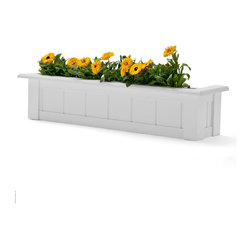 """Coronado Premier Composite Window Box - This Coronado window box is a classic style for your home! It comes in sizes ranging from 24"""" to 72"""" and has an easy-up cleat mounting system that attaches right to your home. The composite PVC material has the look of wood, but is no-rot, and is extremely durable!"""