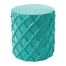 Stray Dog Designs - Stray Dog Designs Net Stool and Accent Table - A clever piece swathed in classic fishnet. It's a sturdy seat or a stunning table. Handmade of papier mache from recycled materials by artisans in Haiti.