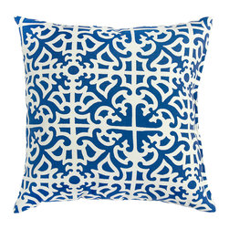 Greendale Home Fashions Outdoor Accent Pillows, Indigo - A small sofa with a few throw pillows in your office is always a good idea. It will give your space some nice color and will help you out on the days that you just need to take some time to read a book.