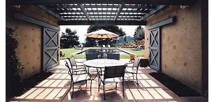 mediterranean patio by JMA (Jim Murphy and Associates)