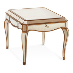 Bassett Mirror - Bassett Mirror Collette Rectangle End Table - Collette Rectangle End Table