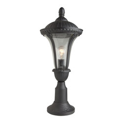Artcraft Lighting - Artcraft Lighting Rio Traditional Outdoor Post Lantern Light X-RG3308CA - A large single head post top from the Rio exterior lighting collection features a beautiful seeded glassware and a rich graphite finish on an aluminum frame. (Also available in mahogony)