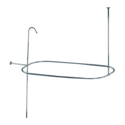 Kingston Brass - Shower Ring and Riser Combination - This shower ring and riser combination includes a shower ring with ceiling support and shower riser. It is constructed of high quality brass to ensure reliability and durability. Its premier finish resists tarnishing and corrosion.