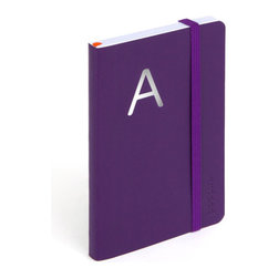 Personalized Soft Cover Notebook, purple, Small - Make a list, check it twice, this little notebook will make you look oh-so-nice.