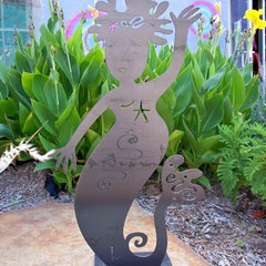 eclectic garden sculptures by gardendeva.com