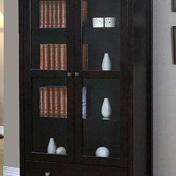 None Aristo Halifax Brown 2 Door Tall Cabinet This