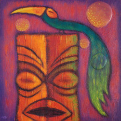 """Bird Of Paradise 2"" (Original) By Woody Miller - The Second Piece In A Series Of Birds And Tikis."