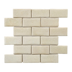 Somertile - SomerTile 12x12-in London Subway Ceramic Mosaic Tile (Pack of 5) - London floor tiles feature a glazed crackle finish for sparkling effect Add a touch of vintage to your home decor with ceramic flooring Installing new wall tiles makes an ideal home improvement project