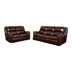 Chelsea Home Furniture - Chelsea Home Berks 2-Piece Reclining Living Room Set in Mesa Chestnut - Berks 2-Piece Reclining Living Room Set in Mesa Chestnut belongs to the Chelsea Home Furniture collection