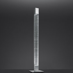 Mimesi floor, design by Carlotta de Bevilacqua - 2011 - Floor standing luminaire for indirect and diffused LED lighting.