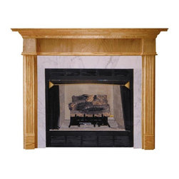 Agee Woodworks - Agee Woodworks Jefferson Wood Fireplace Mantel Surround - JEFFERSON4840BIRCH - Shop for Mantels and Trim from Hayneedle.com! About This Fireplace MantelUnlike most mantels the upper portion of the Agee Woodworks Madison Wood Fireplace Mantel Surround is substantially inset behind the pillars. It creates a unique look that will set your home apart. Assembly is a snap since most of it is complete out of the box. The final choices are left up to you this mantel ships unfinished ready to paint or stain and install. Choose between birch/pine mix or oak in a wide selection of custom-cut sizes.About Agee Woodworks Inc.Ashland Va.'s Agee Woodworks Inc. focuses on three key manufacturing aspects: service quality and customization. Each handcrafted Agee fireplace mantel is made to order by one specific craftsman - and with a variety of value and custom options there's one for every budget. The highest-quality materials used - and individualized construction process during which a mantel's legs header and shelf are applied to a specified-size frame - ensure long-lasting one-of-a-kind products. Mantels can be primed painted or stained before delivery or can be shipped unfinished so customers can finish them at home.