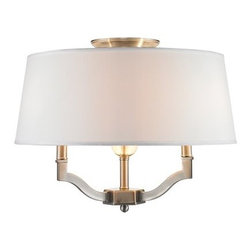 Golden Lighting - Golden Lighting 3500-SF-CWH Waverly 3 Light Semi Flush Ceiling Fixture - Features: