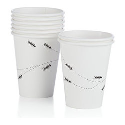 Ants Paper Cups Set of Eight - For once, you'll be happy to see ants at your next picnic! This set of paper cups will bring a smile to everyone's faces.