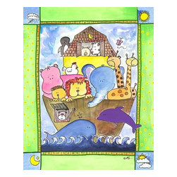 Oh How Cute Kids by Serena Bowman - Noahs Ark, Ready To Hang Canvas Kid's Wall Decor, 8 X 10 - Each kid is unique in his/her own way, so why shouldn't their wall decor be as well! With our extensive selection of canvas wall art for kids, from princesses to spaceships, from cowboys to traveling girls, we'll help you find that perfect piece for your special one.  Or you can fill the entire room with our imaginative art; every canvas is part of a coordinated series, an easy way to provide a complete and unified look for any room.