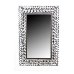 30 X 20  1.75 Mirror With Stones - 30 X 20  1.75 Mirror With Stones